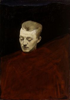 Head , Oil on canvas; x 57 cm. by Magnus Knut Enckell (Finnish National Gallery, Helsinki, Finland) Stockholm, Great Works Of Art, Beauty In Art, Nordic Art, Canadian Art, Beautiful Paintings, American Artists, Finland, Art History