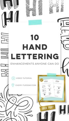10 hand lettering enhancements anyone can do