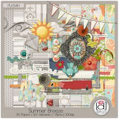 Deal of the Day today! Summer Breeze Kit by Digilicious Designs