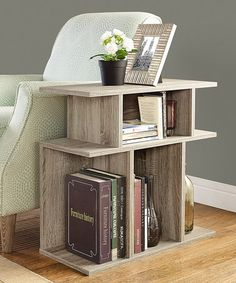 Another great find on #zulily! Dark Taupe Side-Table/Bookcase #zulilyfinds