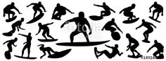"Download the royalty-free vector ""Surfing Silhouette, vector set of surfer silhouette, surf vector pack"" designed by EdNal at the lowest price on Fotolia.com. Browse our cheap image bank online to find the perfect stock vector for your marketing projects!"