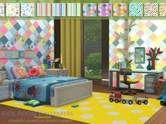 Kids Room Wallpapers by Pralinesims at TSR
