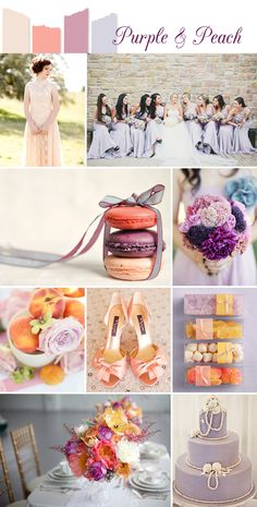 Purple & Peach Wedding Colour Inspiration