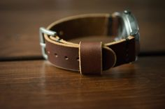 Leather Watch Strap - Pecan Leather Watch Strap