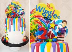Creative Cake Decorating For A Kid's Birthday Boys First Birthday Party Ideas, 18th Birthday Cake, Adult Birthday Cakes, Birthday Candy, 2nd Birthday, Birthday Cupcakes, Wiggles Birthday, Wiggles Party, Wiggles Cake