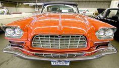 Old Orange Car Front