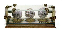 Three Globes: Terrestrial, Celestial, and Lunar