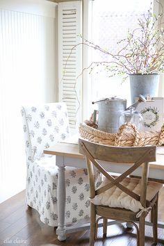 lovely vintage farmhouse decor- Spring home tour