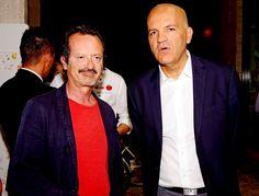 Marco Eugenio Di Giandomenico and Rocco Papaleo at the event Abruzzo towards Expo 2015 (Pescara, 2014)