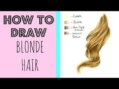 Drawing Tutorial: Realistic Blonde Hair In Coloured Pencil - YouTube