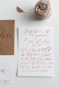 Modern #Wedding #Calligraphy via Oh So Beautiful Paper: http://ohsobeautifulpaper.com/2014/07/calligraphy-inspiration-written-word-calligraphy/   Calligraphy + Photo: Written Word Calligraphy + Design