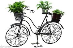 "Enchanted Garden 52"" Antique Metal Bicycle Garden Landscape Flower Planter Stand #EnchantedGarden #Traditional"