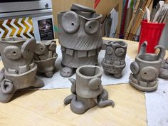 Cute clay project idea: Clay work inspired by artist James DeRosso!
