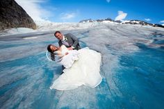 My Dream Wedding!  And it was actually my own wedding :)  Juneau, Alaska- Herbert Glacier