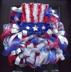 Uncle Sam Wreath 4th of July