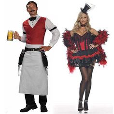 Bartender & can can girl