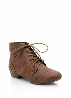 Lace-up booties!