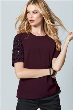 Buy Jewel Sleeve Top from the Next UK online shop