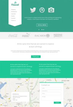 Pinwall is a simple and modern website template released by CSSauthor. You can grab a free PSD copy on their website.
