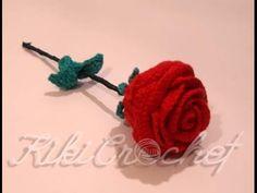 Πλεκτο Τριανταφυλλο/ Crochet Rose Tutorial