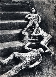 Victims of the natural disaster in Pompeii