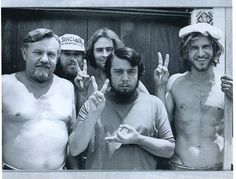 Before Han Solo, there was a great carpenter named Harrison Ford. And here he is, with his crew, the day he finished building my recording studio back in 1970