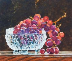 Crystal and Grapes by SarahLuginbillArt on Etsy