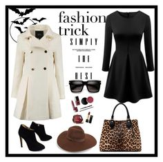 """lady in black"" by lea-vehabovic ❤ liked on Polyvore featuring Giuseppe Zanotti, Lack of Color, Diane Von Furstenberg, women's clothing, women, female, woman, misses and juniors"