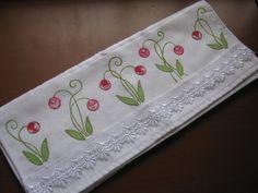 Toalha de rosto flores rosas
