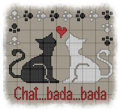 free cat pattern - Si vous brodez mes grilles, merci de m'en envoyer une photo à l'adresse mail suivante: lesgrillesdeliselotte@gmail.com  grilles chats-chien - Les grilles de Liselotte