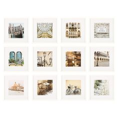 Hanging Picture Frames, Picture Frame Sets, Hanging Pictures, Frames On Wall, Gallery Wall Frame Set, Gallery Frames, Gallery Walls, Art Gallery, Photo Wall Decor