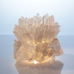 Tibetan Quartz; Crystal Quartz Votive #Tibetan # Tibetan art