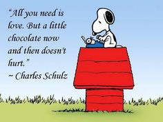 Chocolate and Snoopy. Perfect combo!! :)