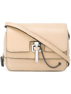 CARVEN pin clasp crossbody bag. #carven #bags #shoulder bags #leather #crossbody #