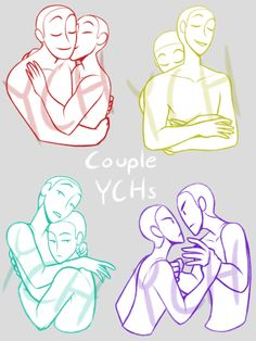 Couple Poses Drawing, Couple Poses Reference, Drawing Reference Poses, Drawing Base, Figure Drawing, Hugging Drawing, Poses References, Drawing Expressions, Art Poses