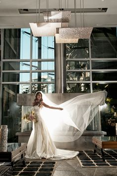 Bride in the lobby at The Parkside Hotel  Spa. Photo by Curtis Pelletier: http://curtispelletier.com/