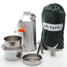 Kelly Kettle USA - Volcano Kettle - Ultra Fast Boiling Kettle. Large Aluminum Base Camp Kelly Kettle Complete Kit, perfect for Cooking, Hiking, Camping, Kayaking, Fishing, and Hunting. The Kelly Kettle is the Outdoor Enthusiasts best friend. Kelly Kettles are also ideal for Emergency Preparedness Kits and being prepared for any disaster. Not only is the Kelly Kettle the perfect camping kettle for Emergency Preparedness, but it is also the perfect camping kettle for Car Camping.