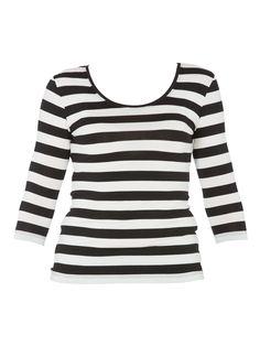 Tani - Stripe 3/4 Sleeve Top