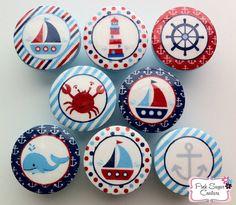 NAUTICAL Knobs Handmade Drawer Pull Harper Regatta Jackson Kids Decor boys sailboat sea ocean  SO CUTE