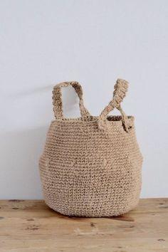 Creatief Met Touw Mand Haken Manden Crochet Knit Crochet En