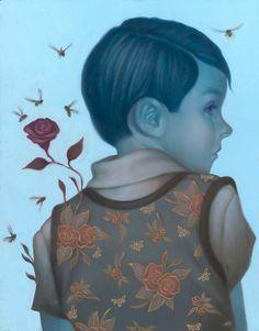 Dreamy, melancholic painting by Syd Bee (via @bleaq )