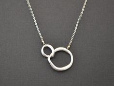 Modern double curb link necklace by LilliDolli on Etsy, $18.00