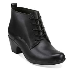 Ingalls Panama in Black Leather - Womens Boots from Clarks