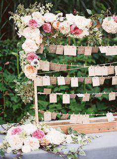 Carats & Cake // floral garland