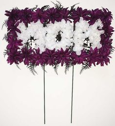Mom Pillow with Purple Mums - 18 Inch