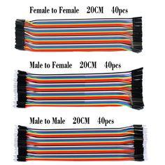 Gratis pengiriman! garis Dupont 120 pcs 20 cm pria pria + pria wanita + wanita untuk kawat jumper perempuan kabel Dupont untuk Arduino