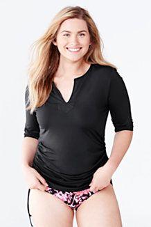 women's plus size supima oxford back pleat buttondown tunic from