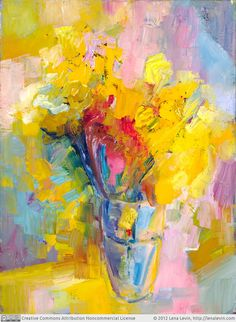 """Daily Paintworks - """"Daffodils (Nothingness)"""" - Original Fine Art for Sale - © Lena Levin Art Painting, Floral Art, Original Fine Art, Painting Inspiration, Painting, Visual Art, Art, Abstract, Interesting Art"""