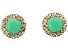 Kate Spade New York Secret Garden Stud Earrings Bud Green/Clear - Zappos Couture
