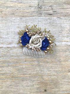 DeniMar / Hrebienok do vlasov Sapphire, Brooch, Rings, Jewelry, Fashion, Moda, Jewlery, Jewerly, Fashion Styles